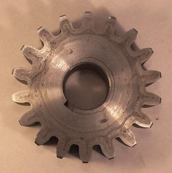 Steel Gear 18 Tooth 6 Dp 1 Thick And With 1 4 Keyway To